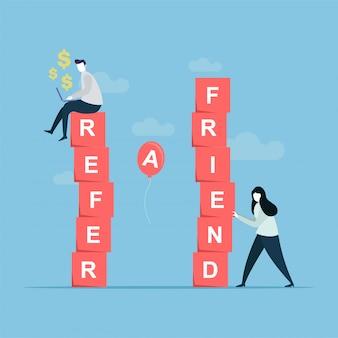 Indique um banner de amigo