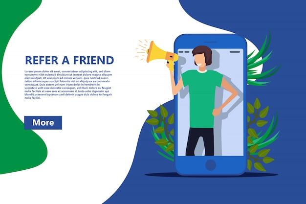 Indique um modelo de banner para um amigo