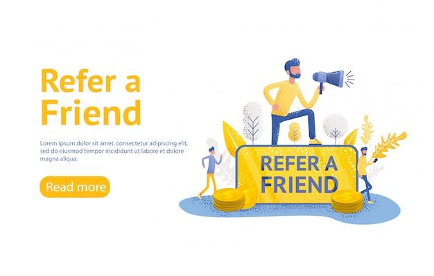 Indique uma página de destino da estratégia de um amigo