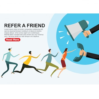 Indique uma página de destino de amigos