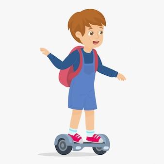 Indo para a escola no hoverboard