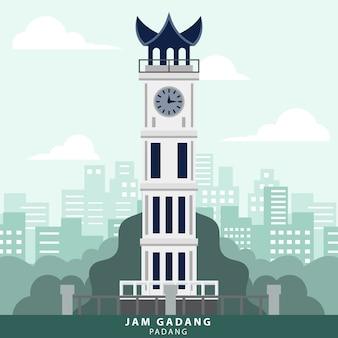 Indonésia padang jam gadang landmark