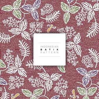 Indonésio salak batik pattern vector livre