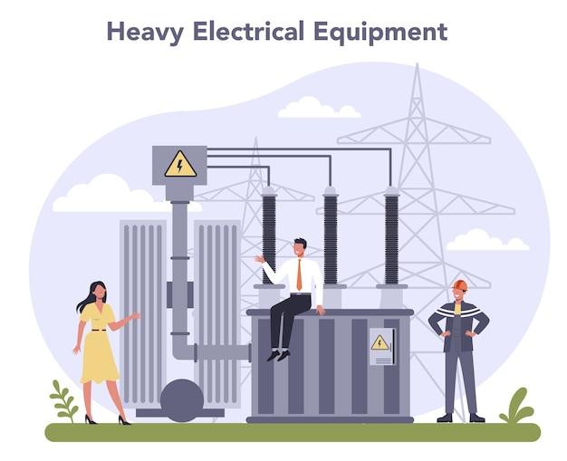 Indústria de componentes e equipamentos elétricos. tecnologia de eletricidade pesada.