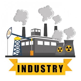Indústria de fábrica e design de negócios