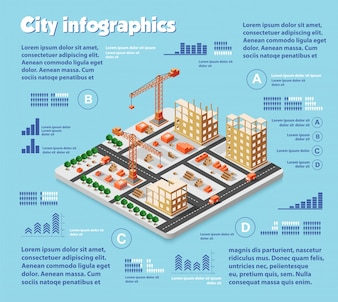 Indústria de mapa de cidade isométrica