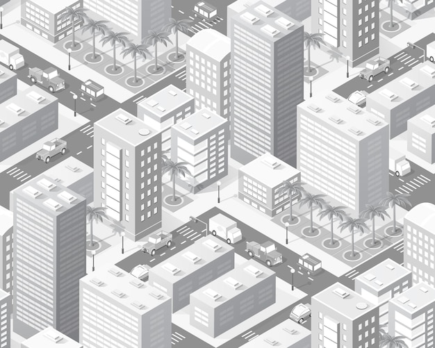 Indústria de mapas isométricos da cidade