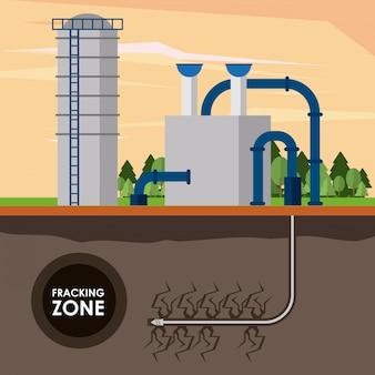 Indústria de petróleo na zona de fracking
