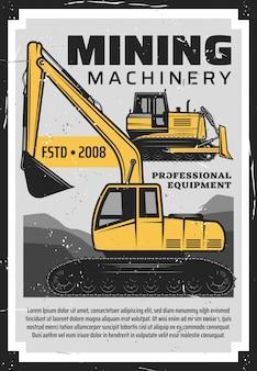 Indústria de produção de mineração de carvão, máquinas para minas