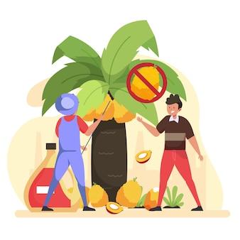 Indústria produtora de óleo de palma
