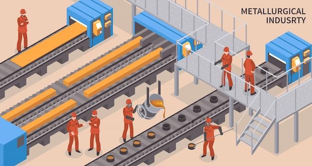 Indústria siderúrgica isométrica
