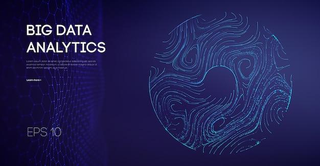 Indústrias de fluxo de dados que manufaturam cibernético da indústria de tecnologia leve. código do software ágil internet industrial ícone som visulização automação indústrias galáxia animação.