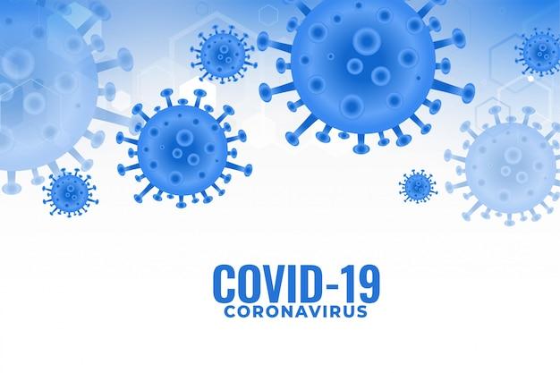 Infecção por coronavírus covid19 espalhando design de fundo pandêmico