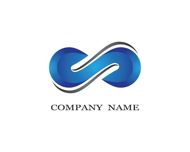 Infinito logotipo modelo vector design de ilustração de ícone