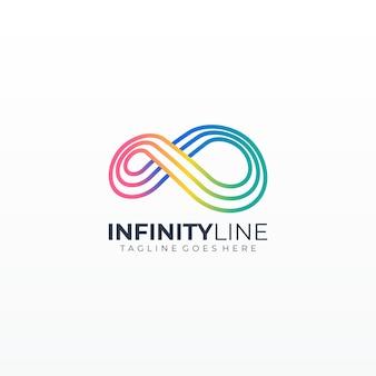 Infinito loop linha ilustração ícone colorido