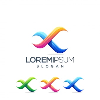 Infinito x design de logotipo