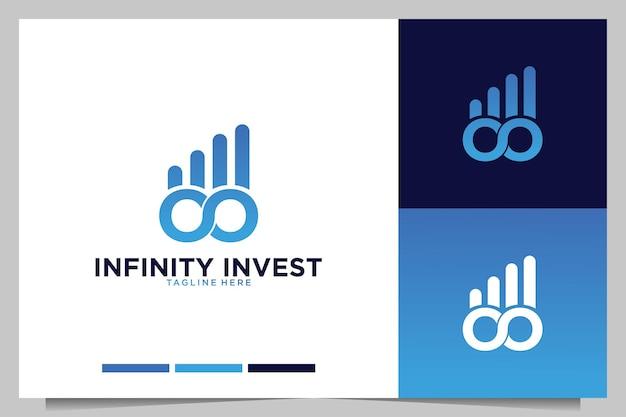 Infinity com design de logotipo moderno de investimento