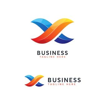 Infinity letter x logotipo trmplate