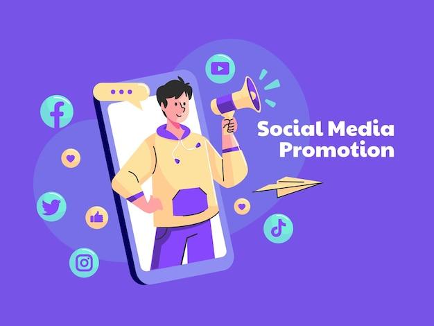 Influenciar e promover o conceito de mídia social