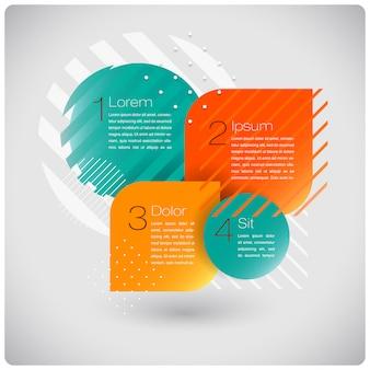 Infografia abstrata de formas modernas Vetor Premium