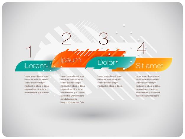 Infografia abstrata de formas modernas