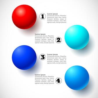 Infografia com grupo de bolas voadoras