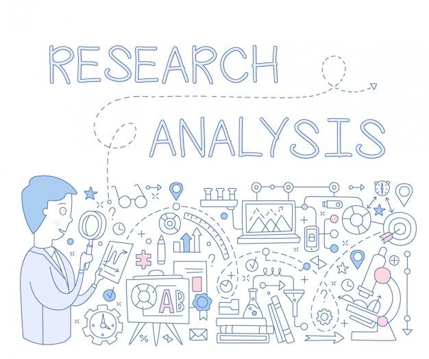 Infografia de análise de pesquisa. ilustração