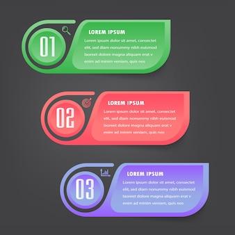 Infografia de banner de modelo de caixa de texto moderna