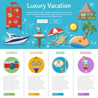 Infografia de férias e turismo