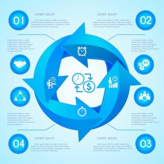 Infografia de flecha de círculo
