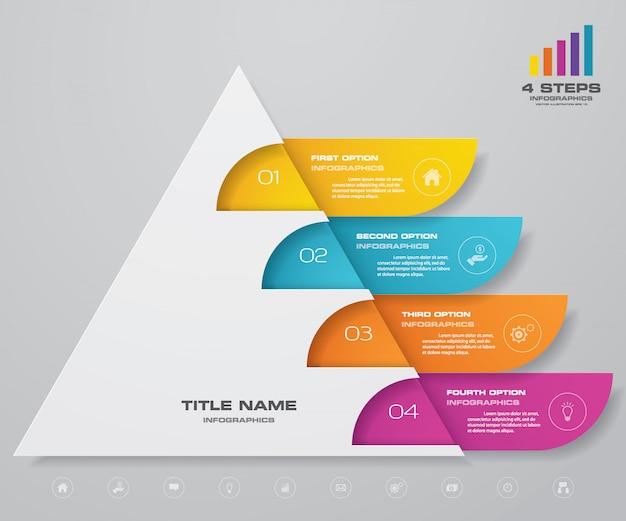 Infografia de gráfico de pirâmide