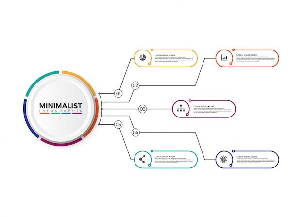 Infografia de gráfico de processo de negócios