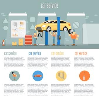 Infografia de loja de carro