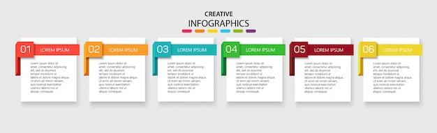 Infografia de modelo com 6 opções