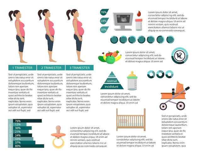 Infografia de mulher grávida