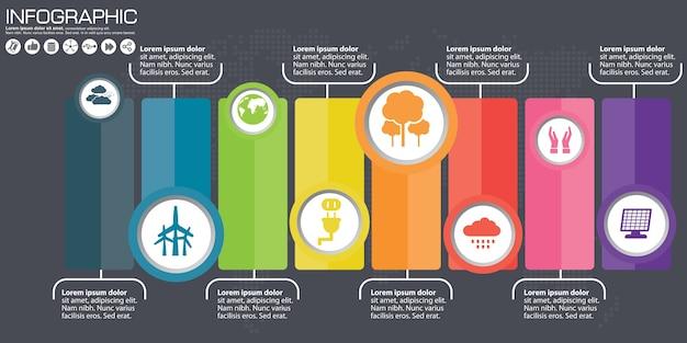 Infografia de negócios círculo ilustração do estilo de origami.