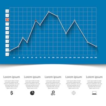 Infografia de negócios. gráficos 3d e gráficos.
