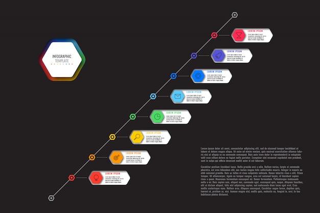 Infografia de negócios modernos com elementos realistas. modelo de relatório corporativo