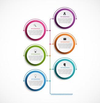 Infografia de opções de negócios.
