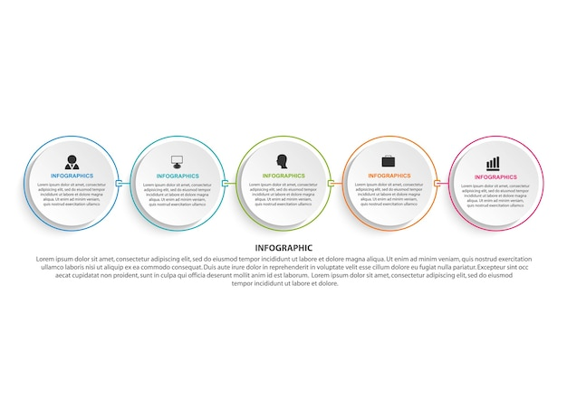 Infografia de opções de negócios