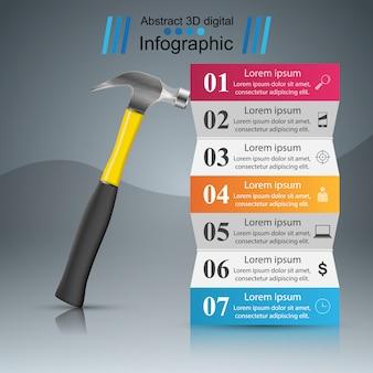 Infografia de papel de negócios