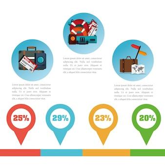 Infografia de promoção de viagem de folheto