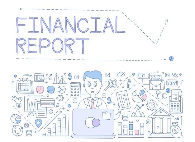 Infografia de relatório financeiro. ilustração
