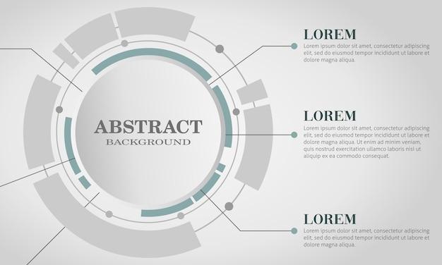 Infografia e tecnologia de fundos brancos geométricos da moda