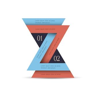 Infografia mínima vertical com triângulos