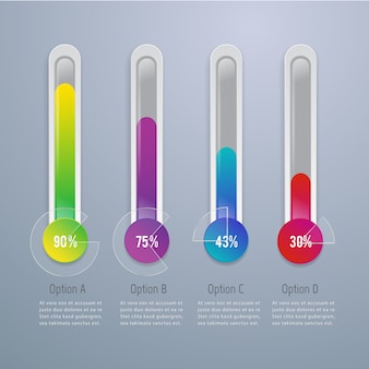 Infografia moderna 3d abstrata