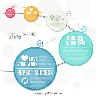 Infografia moderna com círculos