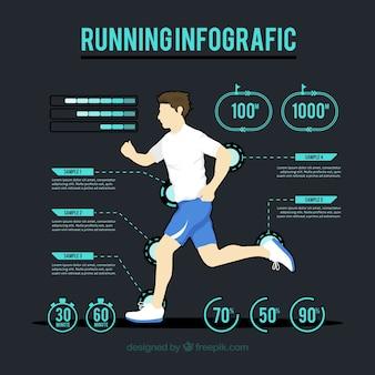 Infografia moderna de atividade física