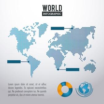 Infografia mundial da terra