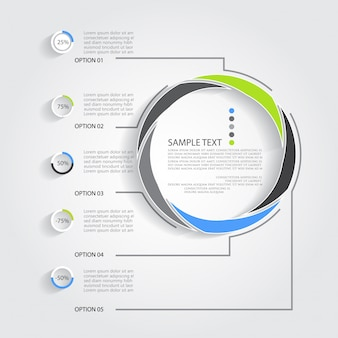 Infografia realista moderna abstrata